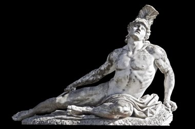 Arrow wounded Achilles statue