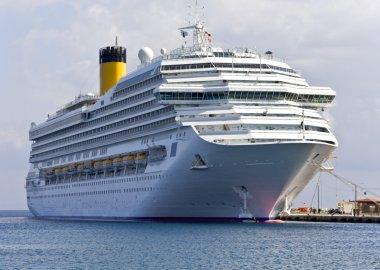 Cruise ship at Rhodes island, Greece