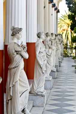 Achilleion palace at Corfu island in Greece