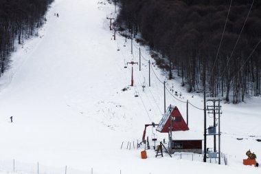 Ski center near Florina city in Greece