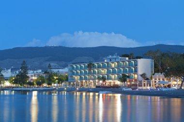 Night scenic views from Kos island in Greece