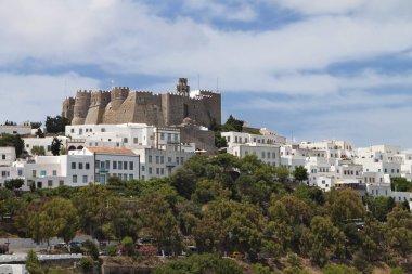 Monastery of St. John the Evangelist at Patmos island in Greece.