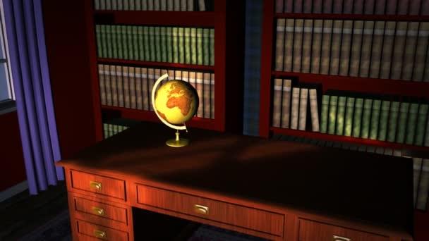 Klasická knihovna s old globe