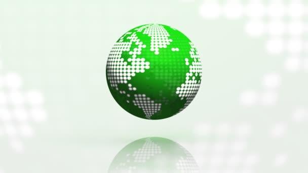 otáčení zeměkoule bezešvé smyčka zelená