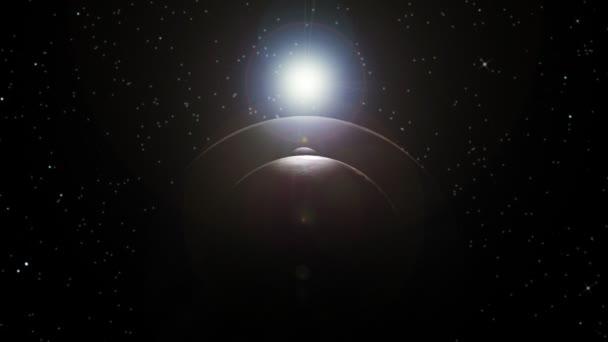 Jupiter a měsíce alligned v prostoru