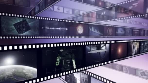 Hurok-képes kreatív animációs film orsó