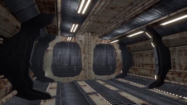 Nave Espacial Futurista Puerta Apertura V Deos De Stock