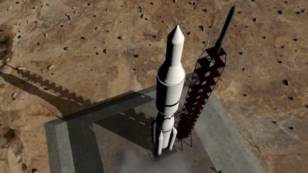 animace startu rakety öirok˝ záběr