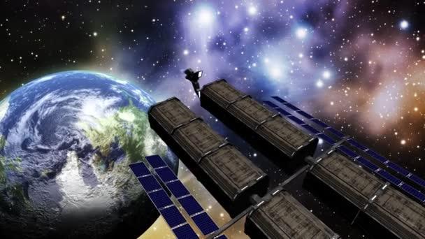 animace vesmírné stanice ve vesmíru