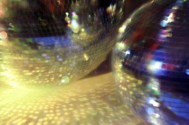 blurred discoballs