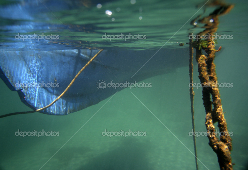Under the boat — Stock Photo © dubassy #12814345