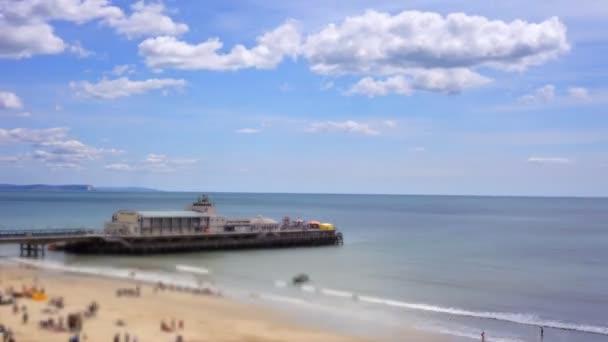 Nézd a mólóval és Bournemouth, dorset, engand