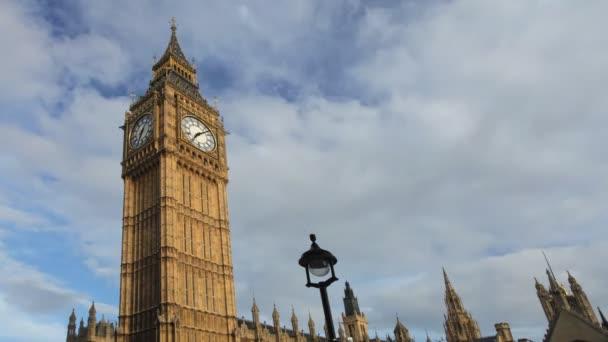 Timelapse of big ben clock, parliament, westminster, london