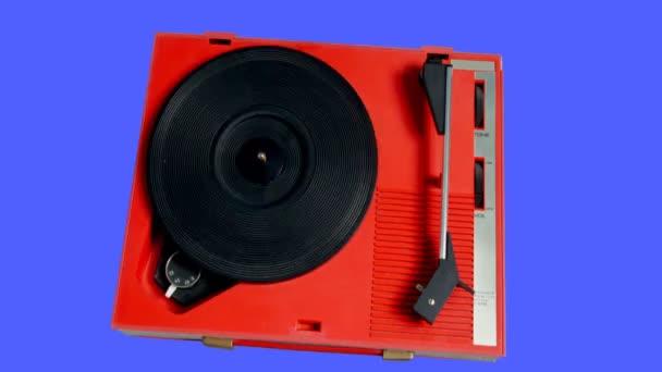 A lejátszó a spinning retro fejhallgató
