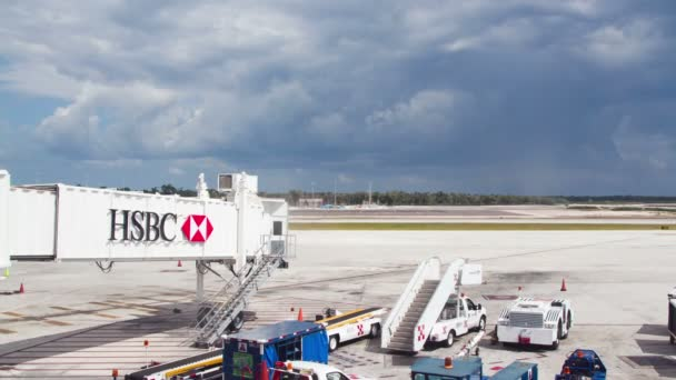 Timelapse of a plane on the concourse at cancun international airport, mexico