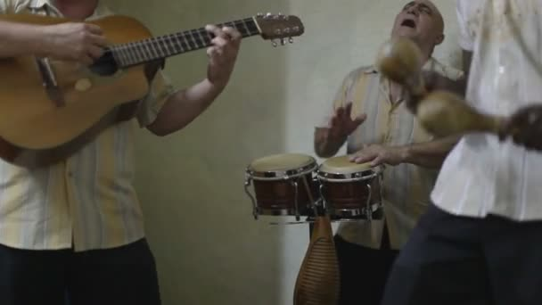 The cuban band eco caribe filmed performing in havana.