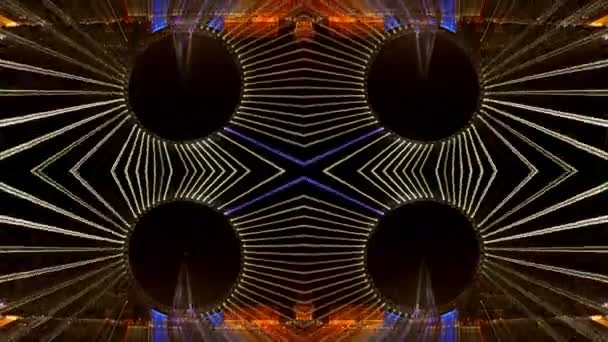 Abstract pattern made from multipe timelapse shots of the london eye at night on long exposures