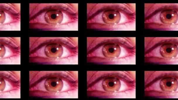 digitální animace hd obrazovky zobrazeno různé velký bratr oči