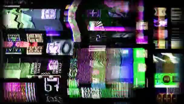 digitální animace obrazovky hd filmu a tv související statické narušení a odpočítávání