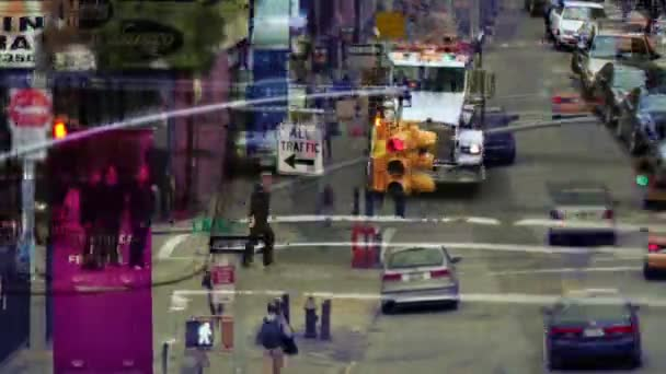 abstraktní vrstvami manhattan pouliční scéna s dopravní a nyc, Amerika