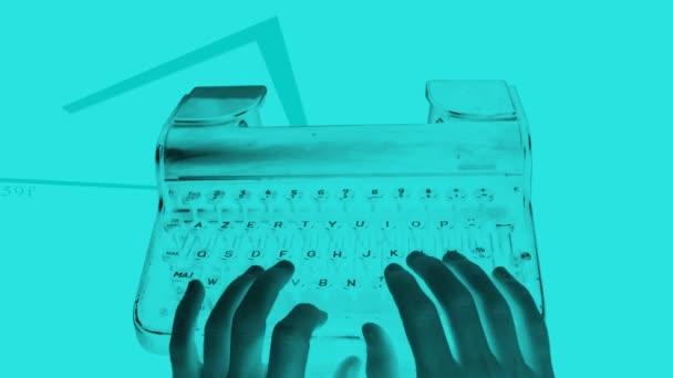 obrácený ruční psaní na starý psací stroj
