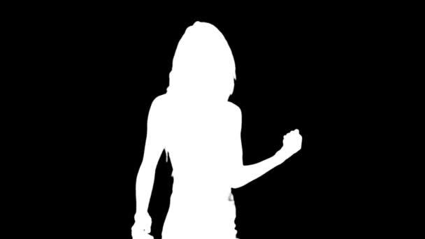 sexy tanečnice stín, silueta