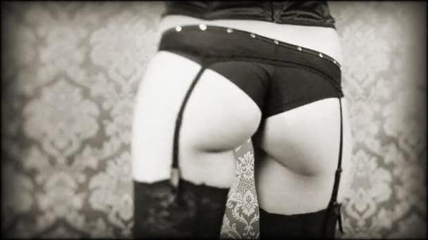 der sexy Hintern einer Gogo-Tänzerin