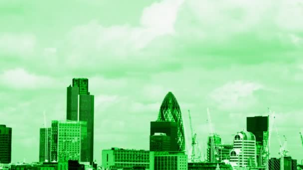 pohled na panorama Londýna, včetně swiss re building