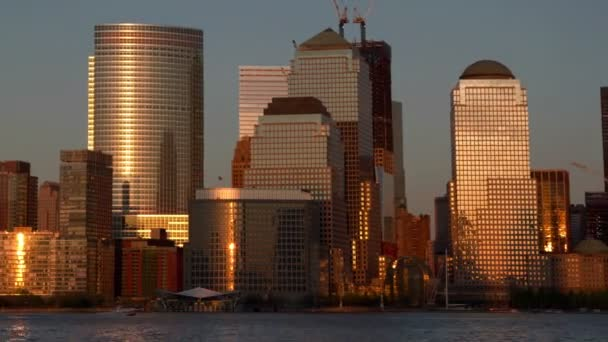 View of lower manhattan skyline from new jersey