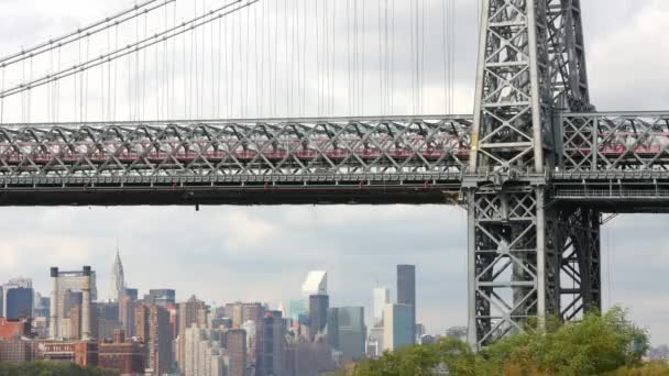 timelapse manhattan Bridge, new york