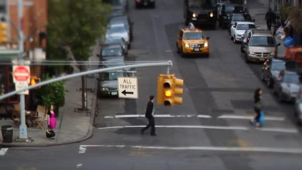 Manhattan pouliční scéna s dopravní a