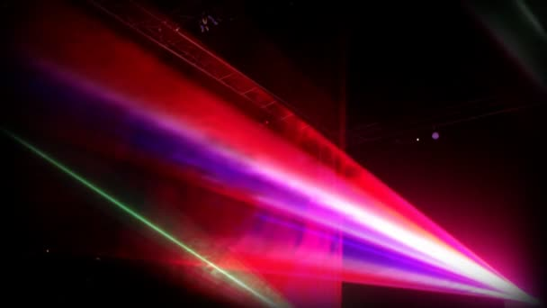 Colourful laser show