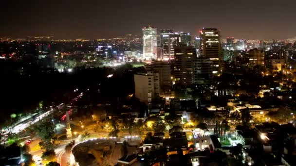 A panning time-lapse of the mexico city skyline at night