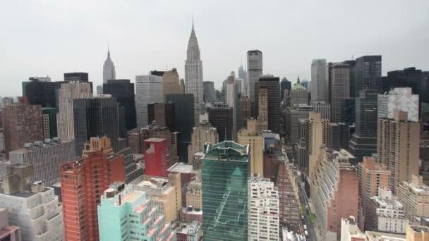 Manhattan látképe egy magas vantage pont képe