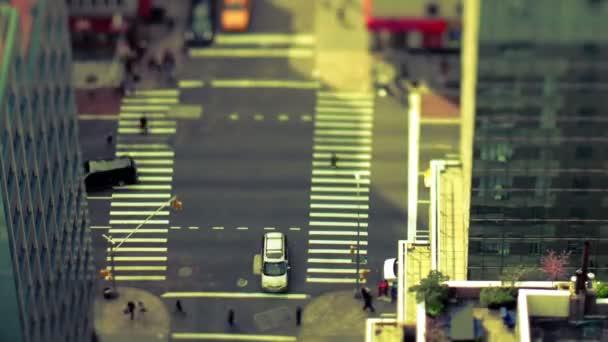 Manhattan street scene with traffic and