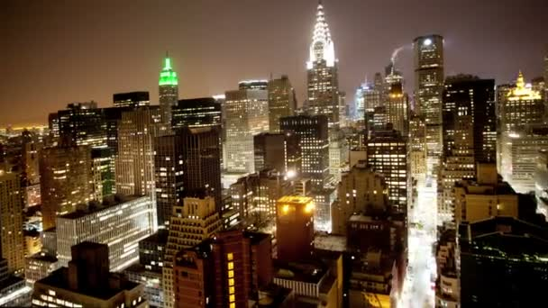View of manhattan skyline from a high vantage point, nyc