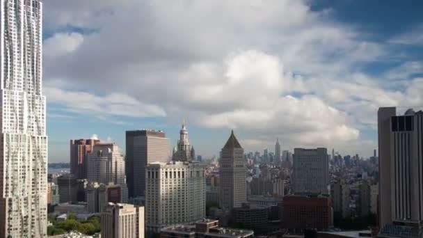 pohled na panorama Manhattanu midtown