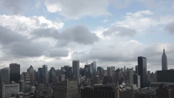 Video of midtown manhattan skyline shot from a high vantage point