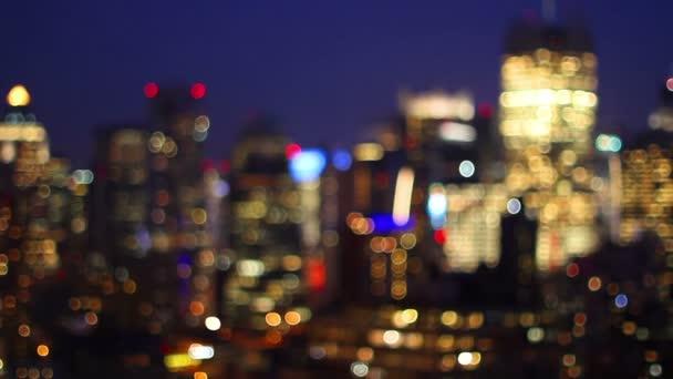 rozmazané posouvání videa midtown manhattan skyline