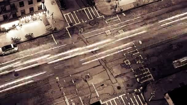 Time-Lapse shlížel na newyorské ulici