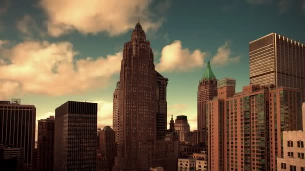Timelapse nižší panorama Manhattanu (finanční čtvrť)