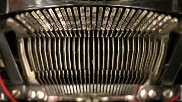 Close-up klíče Starý psací stroj