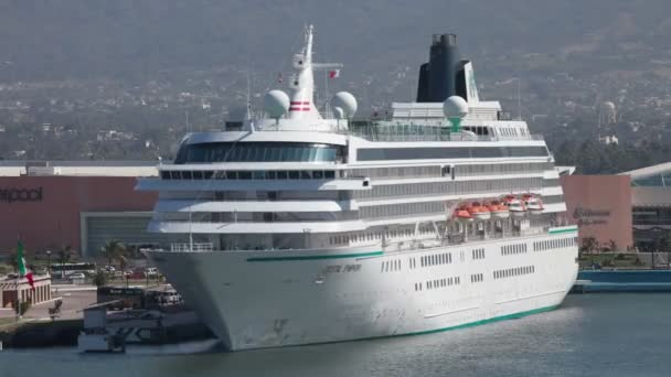 A large cruise ship in the harbour in puerto vallarta