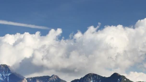 panoramatické timelapse úžasné Pyreneje hory