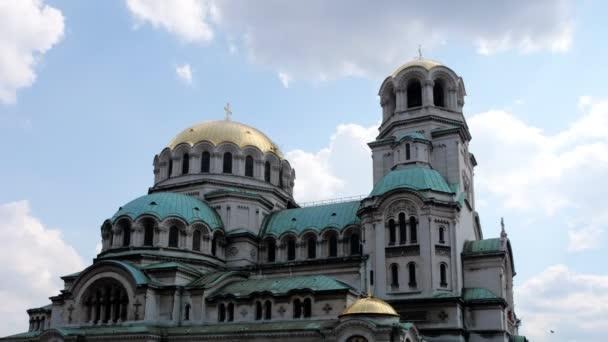 Timelapse shot of Alexander Nevsky church