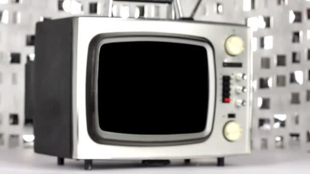 abstrakte Stop-Frame-Retro-Fernseher in Bewegung