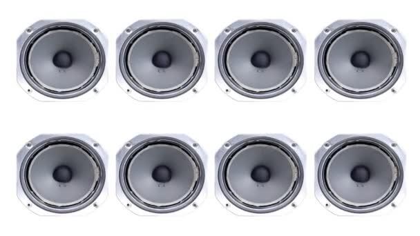 Retro speaker moving, stop frame animation