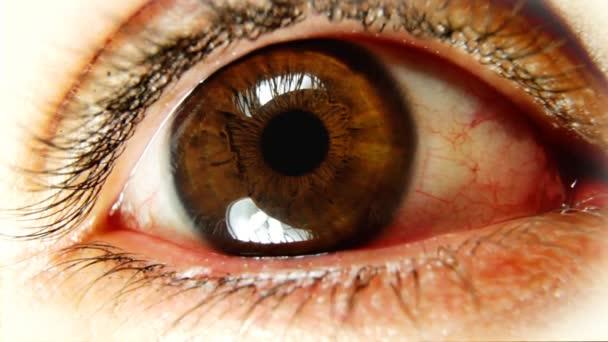 detail oka při pohledu
