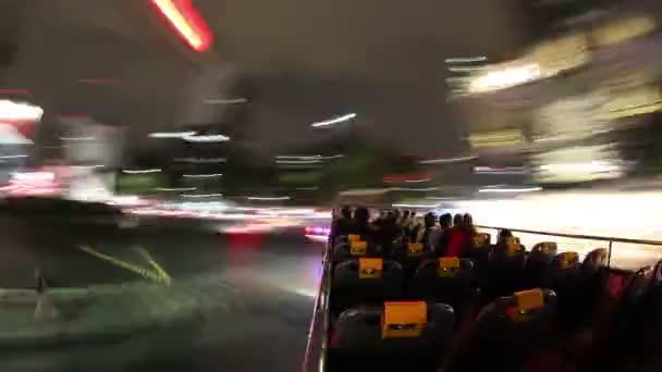 Time-Lapse záběr z mexico city turistický autobus