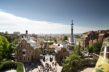 Parc guell, designed by Gaudi in barcelona, spai